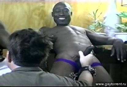 Black gay man fucking small boy for the
