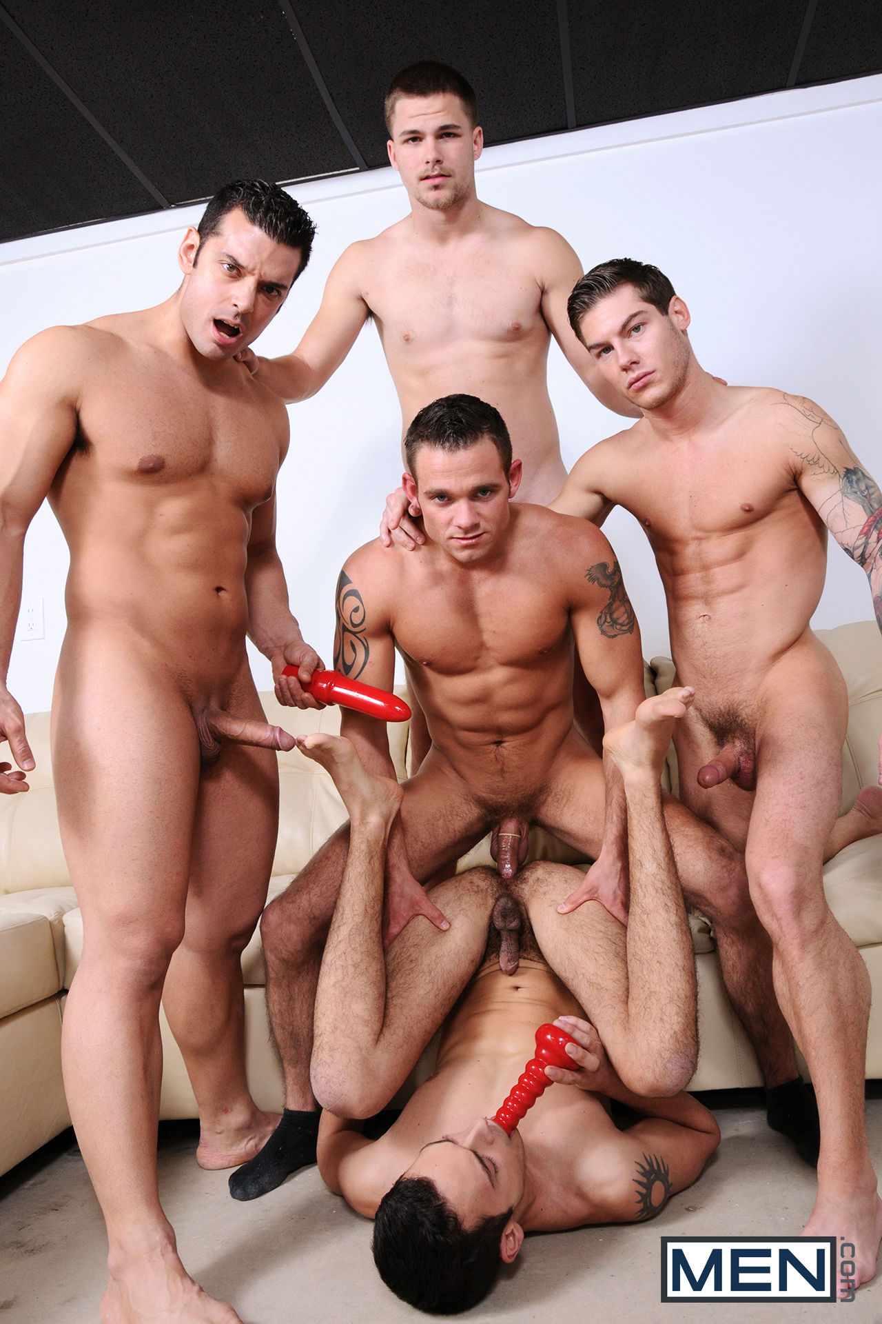 Gay Men Sex Orgy