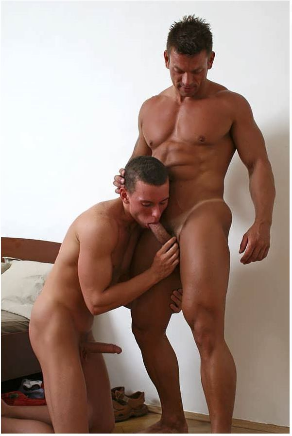 Muscled Gay Cum Soaked
