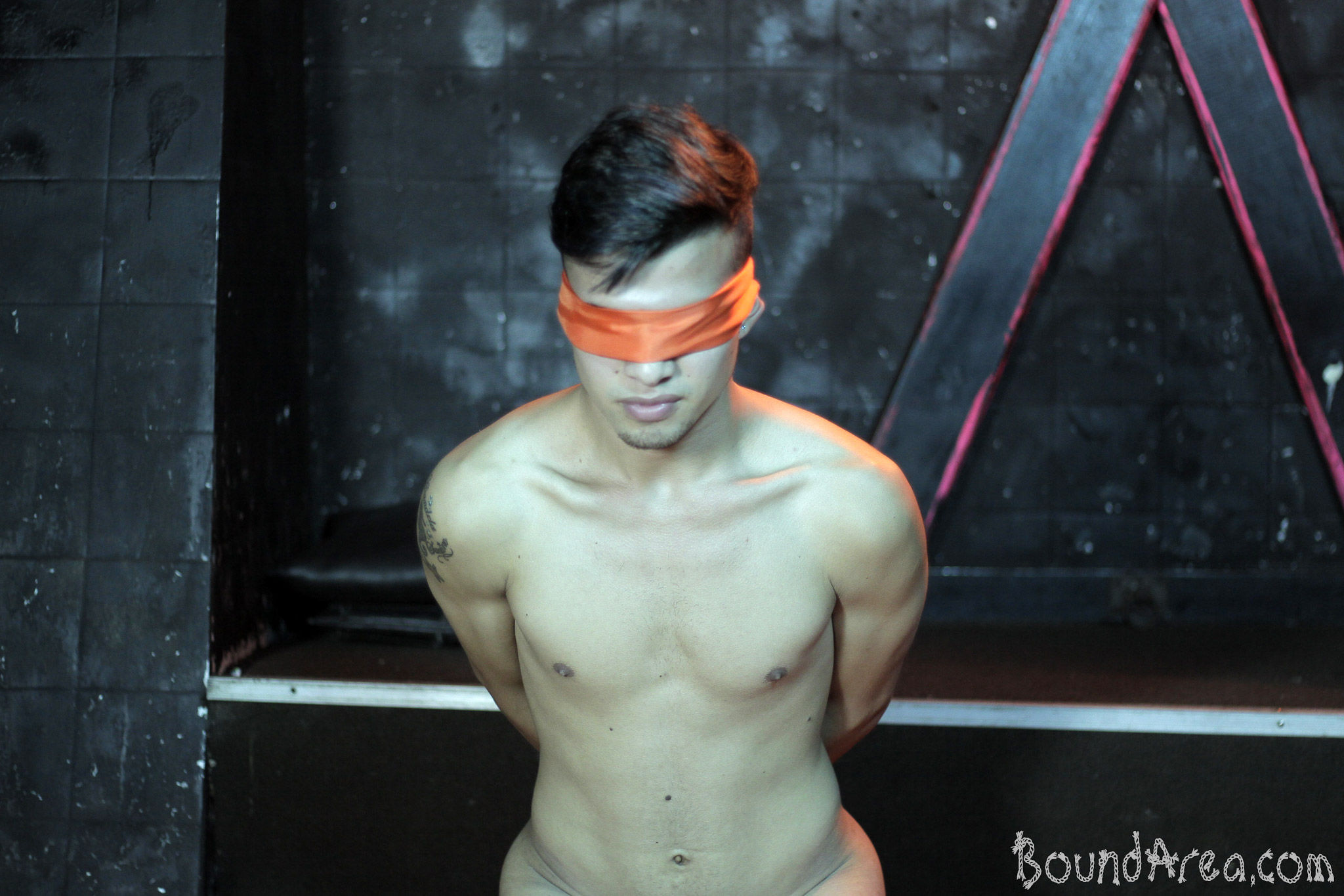 from London blindfolded gay